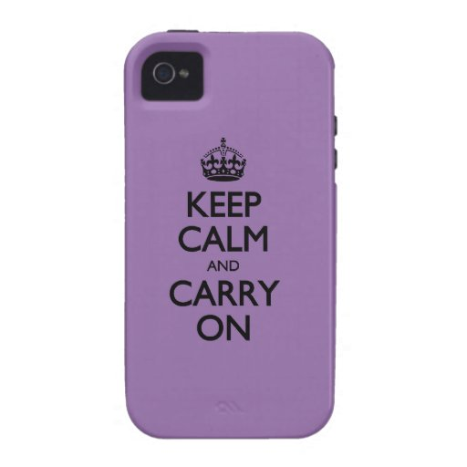 Bellflower Keep Calm And Carry On Case For The iPhone 4