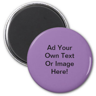 Bellflower Solid Color - Customizable 2 Inch Round Magnet