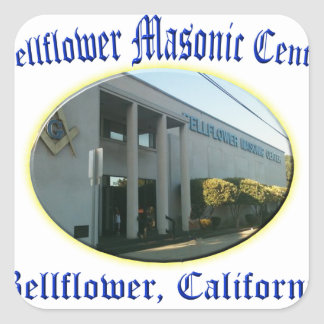 bellflowermason square sticker