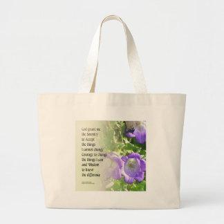Bellflowers del rezo de la serenidad bolsa de tela grande