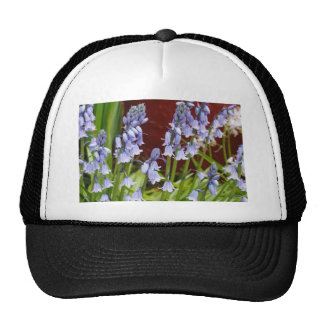 Bellflowers in Front of a Red Wall Trucker Hat