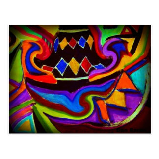 Bellgull Vase Abstract Painting Postcard