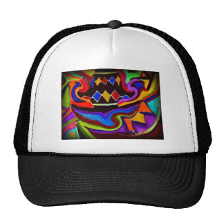 Bellgull Vase Abstract Painting Trucker Hat