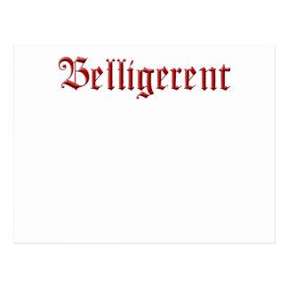 belligerent9 postcard