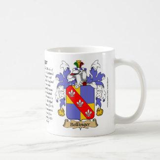 Bellinger, el origen, el significado y el escudo taza de café