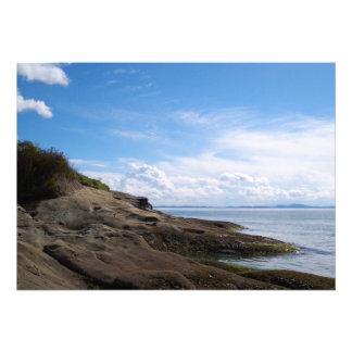 Bellingham Bay Rock Formations Custom Announcements