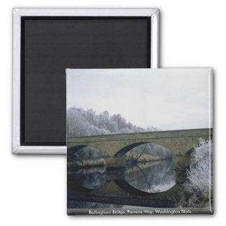 Bellingham Bridge, Pennine Way, Washington State, Fridge Magnet