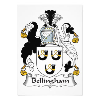 Bellingham Family Crest Personalized Announcements