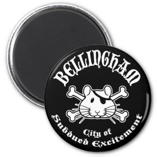 Bellingham Pirate 2 Inch Round Magnet