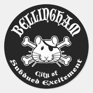 Bellingham Pirate Classic Round Sticker
