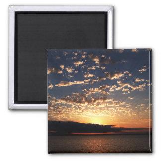 Bellingham Sunset 2 Inch Square Magnet