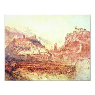 Bellinzona From The South By Turner Joseph Mallord 4.25x5.5 Paper Invitation Card