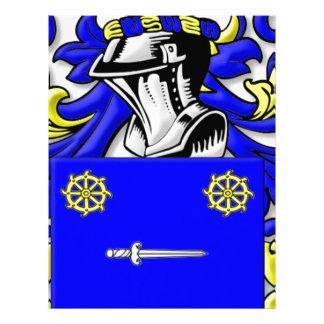 Bellis Coat of Arms Customized Letterhead