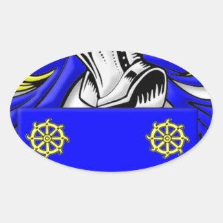 Bellis Coat of Arms Oval Sticker