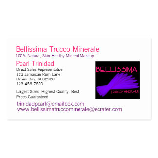 Bellissima Trucco Minerale Business Cards