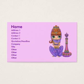Bellly Dancer Genie Girl Business Card