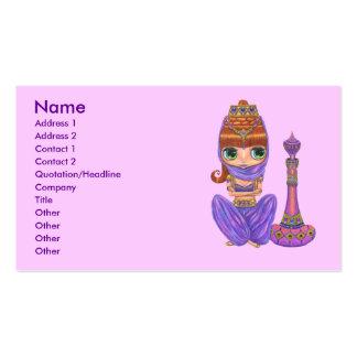 Bellly Dancer Genie Girl Business Card