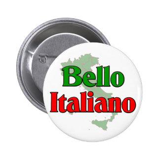 Bello Italiano (hombre italiano hermoso) Pin Redondo De 2 Pulgadas