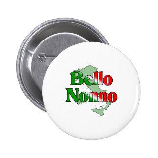 Bello Nonno (Handsome Italian Grandfather) Pinback Button