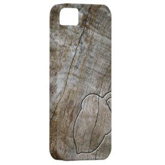 Bellota grabada del efecto en la madera iPhone 5 fundas