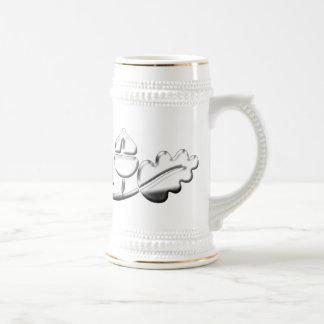 Bellotas de la plata de la taza del papá del númer