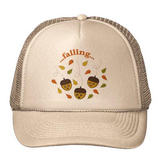 Bellotas que caen gorras de camionero