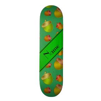 """Bellotas verdes conocidas personalizadas patineta 7 1/8"""""""
