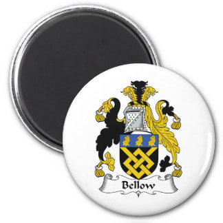 Bellow Family Crest 2 Inch Round Magnet