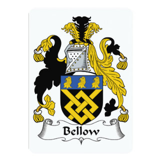 Bellow Family Crest 5x7 Paper Invitation Card