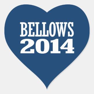BELLOWS 2014 HEART STICKER