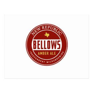 Bellows Amber Ale Postcard
