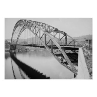 Bellows Falls Arch Bridge Poster