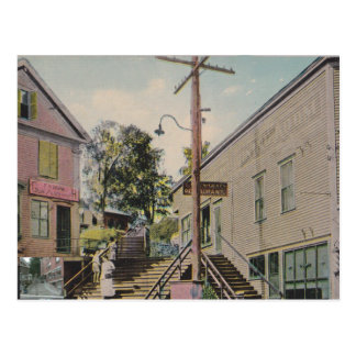 bellows falls, vermont vintage stairs post card