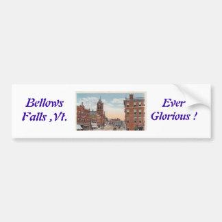 bellows falls, vt. bumper sticker