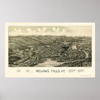 Bellows Falls VT Panoramic Map - 1880 Poster