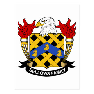 Bellows Family Crest Postcard