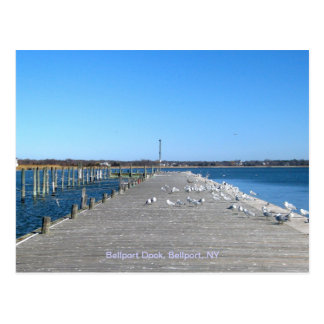 Bellport Dock, Bellport Village NY Postcard