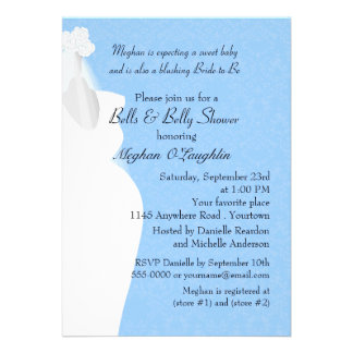 Bells and Belly Baby and Bridal Shower Announcements