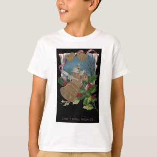 Bells and Holly Vintage Christmas T-Shirt