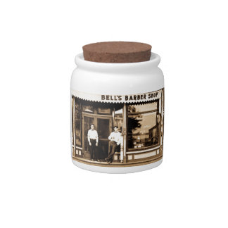 Bell's Barber Shop Vintage Americana Candy Dish