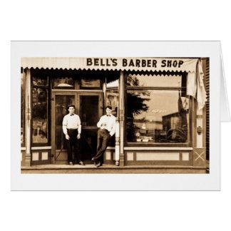 Bell's Barber Shop Vintage Americana Card
