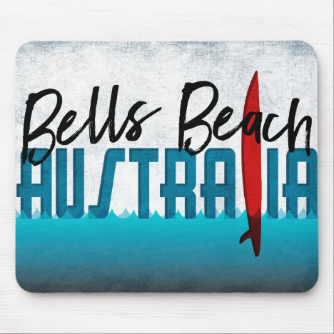 Bells Beach Australia Surfboard Surfing Mouse Pad