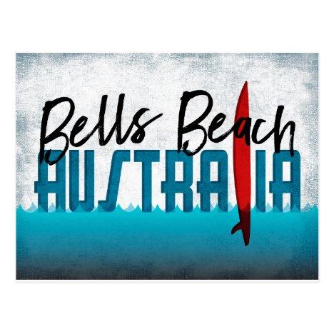 Bells Beach Australia Surfboard Surfing Postcard