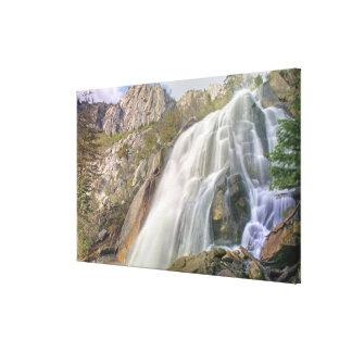 Bells Canyon Waterfall, Lone Peak Wilderness, Canvas Print