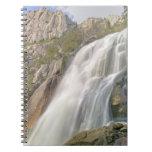 Bells Canyon Waterfall, Lone Peak Wilderness, Spiral Notebook