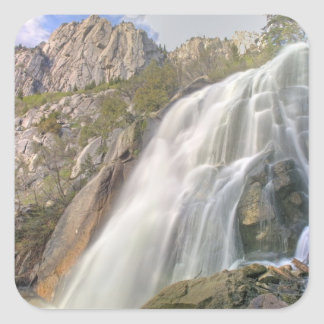 Bells Canyon Waterfall, Lone Peak Wilderness, Square Sticker