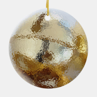 Bells Double-Sided Ceramic Round Christmas Ornament