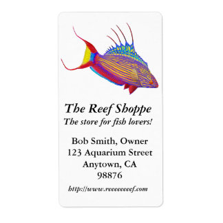 Bells Flasher Wrasse Customizable Label Shipping Label