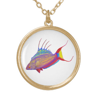 Bell's Flasher Wrasse Reef Fish Necklace