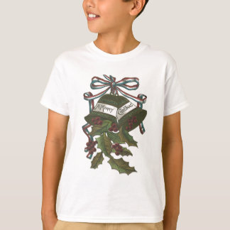 Bells Holly Red White Blue Ribbon Patriotic T-Shirt